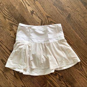 Lululemon White Pleated Tennis Skirt
